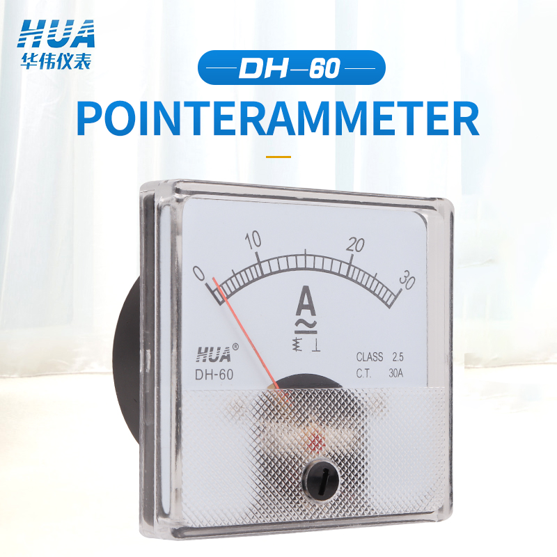 Direto da Fábrica Amperímetro Medidor Analógico Atual 1a 2a 3a 5a 10a 15a 20a 30a 50a 30 – 5 50 Etc Venda Dh-60 ac