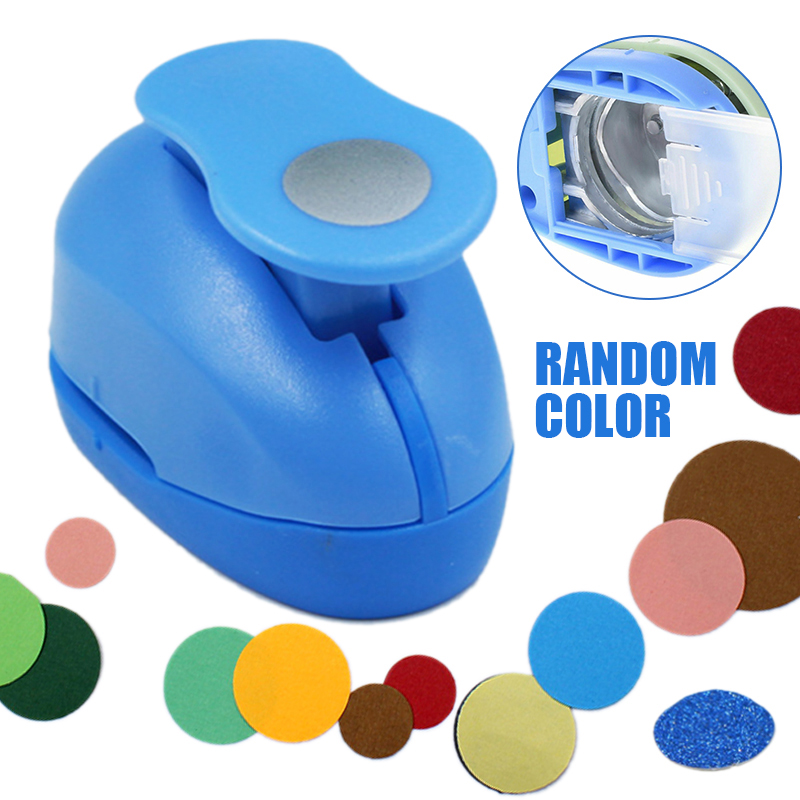 DIY 9mm Circle Round Paper Craft Punch Labor-saving Light Hole Puncher Tool For Kids Scrapbooking Manual Punch Embossing Cutter