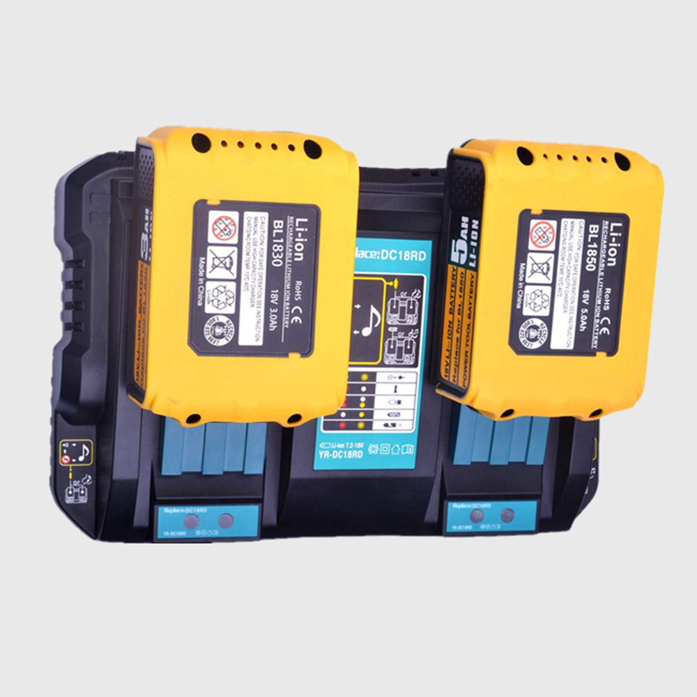 For Makita DC18RD Charger Dual Charger DC18RD 4A Fast Lithium Battery Charger with USB Cable Port