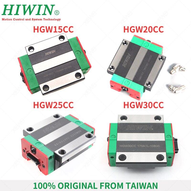 HIWIN 20mm Linear Rail Block HGW20CC Carriage Slider for HGR20 Rail Guideway CNC