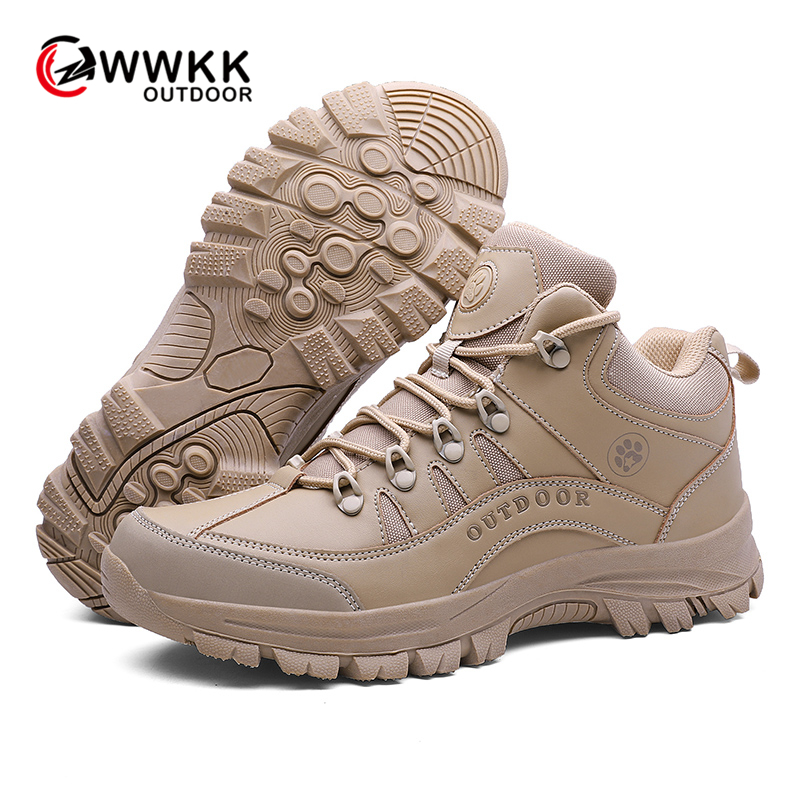 WWKK Men Hiking Shoes Professional Waterproof Hiking Boots Tactical Outdoor Mountain Climbing Sports Sneakers Boots For Hunting