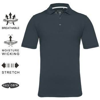 EAGEGOF man torba na sprzęt do golfa koszulka z krótkim rękawem szybkie suche koszule golfowe męskie oddychająca odzież sportowa odzież golfowa do treningu tanie i dobre opinie Poliester spandex Przeciwzmarszczkowy Oddychające Anty-pilling Anti-shrink EGX004 Pasuje prawda na wymiar weź swój normalny rozmiar