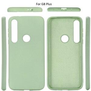 Image 3 - Vloeibare Siliconen Case Voor Motorola Moto G8 Plus Spelen Een Macro Soft Gel Rubber Beschermende