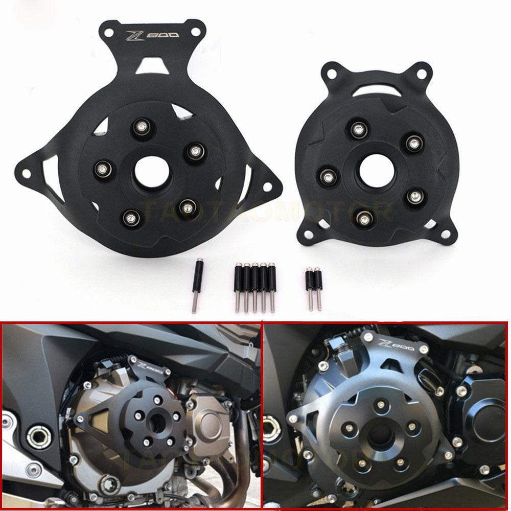 Motorcycle Engine Stator Cover Engine Guard Protection Side Shield For Kawasaki Z750 Z800 2013 - 2017