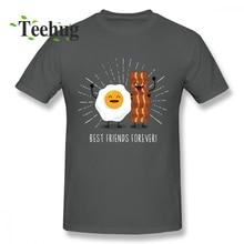 Popular Egg Bacon T shirt Gift Best Friends Forever T-shirt For Man Casual Custom Boy 100% Cotton Shirt