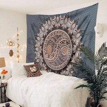 Yin Yang – petite tenture murale à Mandala, tapisserie florale, style bohème, décoration pour chambre à coucher, dortoir, salon