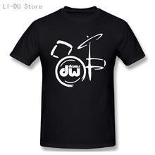 Футболка мужская с логотипом музыкального инструмента dw черная