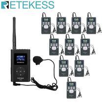 1 FM 송신기 FT11 + 10Pcs FM 라디오 수신기 PR13 무선 음성 전송 시스템 안내 교회 회의 교육