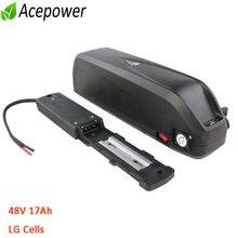 Original 48V Battery ebike Battery Hailong 18650 LG Cell 48 V 17Ah for BBS02 BBS02B 750W 500W BBS01 350W 250W TSDZ2