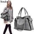 Женская сумка-тоут Yonder из натуральной кожи, элегантный мессенджер, модный саквояж на плечо, серого цвета, Бостон