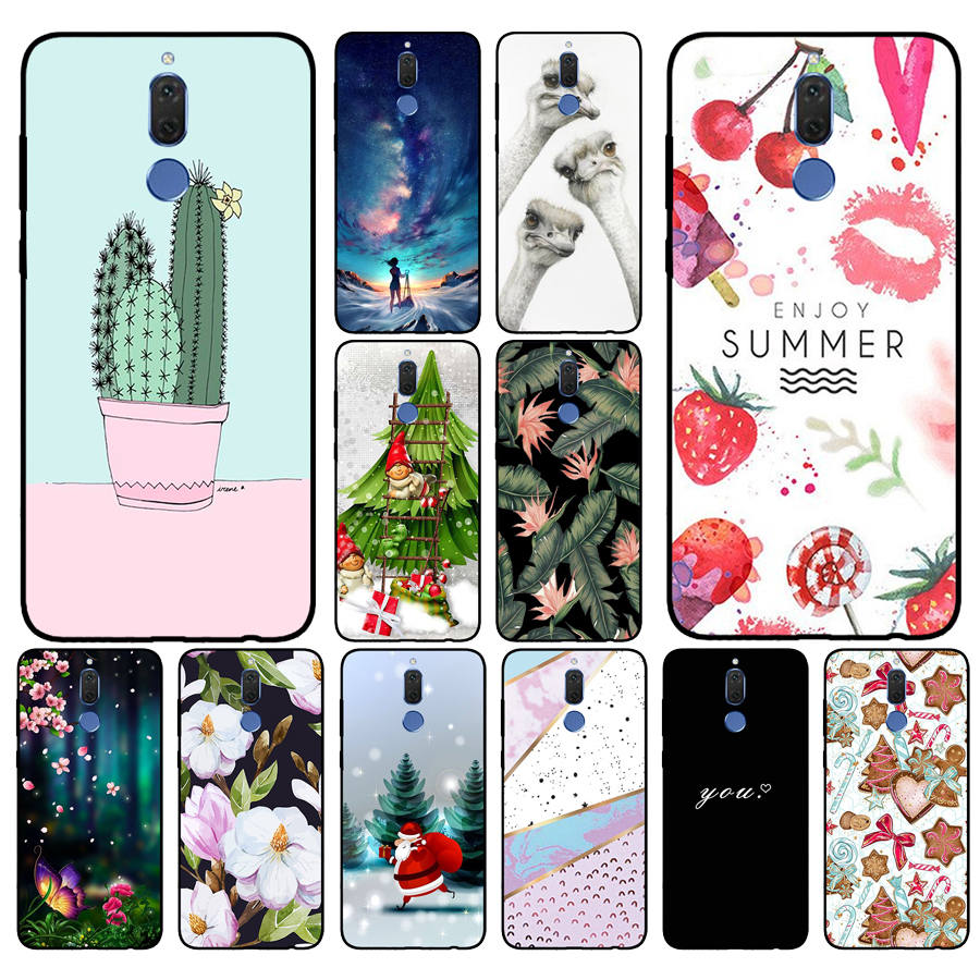 Black Case Cover For Mate 10 Lite Soft Silicone TPU Cool Patterned Painting For Huawei Nova2i Phone Cases