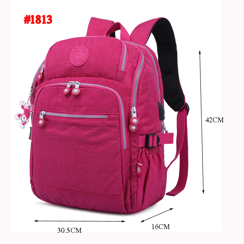 Image 5 - TEGAOTE Nylon Backpack Women Bolsa Mochil Multi Pocket Waterproof  Travel Back Pack Kids School Bag for Teenage Girl USB  ChargerBackpacks