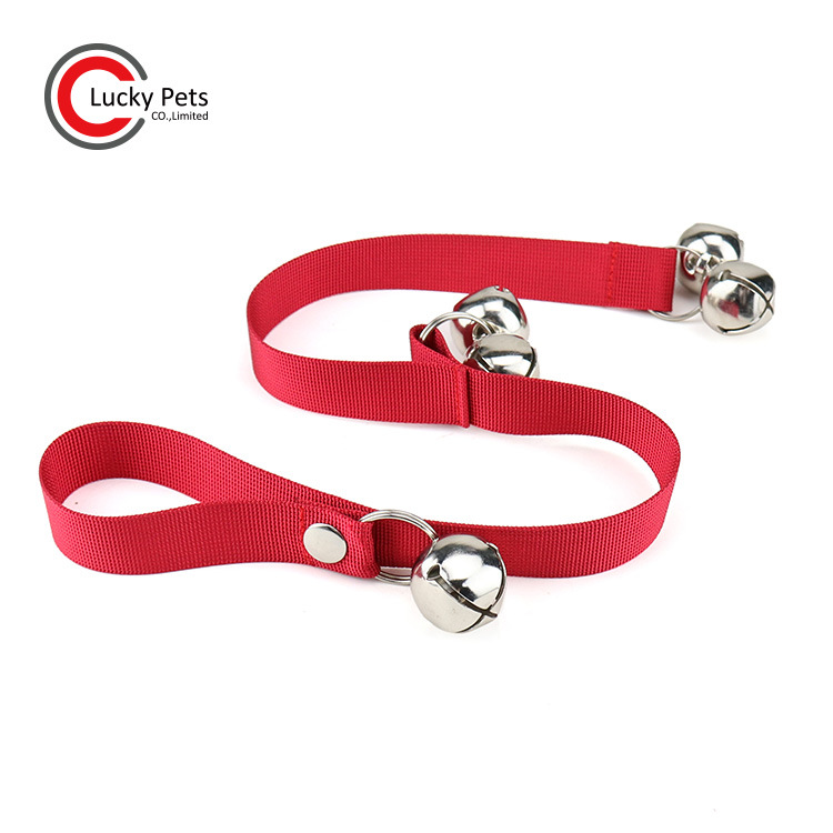 Hot Selling Pet Doorbell Clang Dacron Dog Doorbell Lanyard Training Rope Toilet Bell Pendant