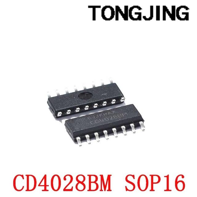 Nowy CD4028 CD4028BM patch SOP16 dekoder koder multiplekser (5 sztuk) tanie i dobre opinie CN (pochodzenie) integrated circuit