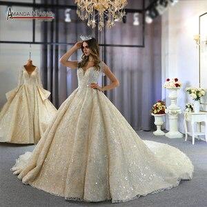 Image 1 - 2020 אוסף אמנדה novias מותג אמיתי עבודה חתונת שמלת כלה שמלה