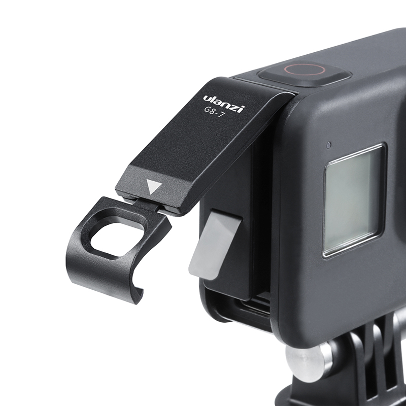 Ulanzi G8-7 Gopro 8 Battery Cover Removable Type-C Charging Port Adapter Gopro 8 52MM Filter Adapter