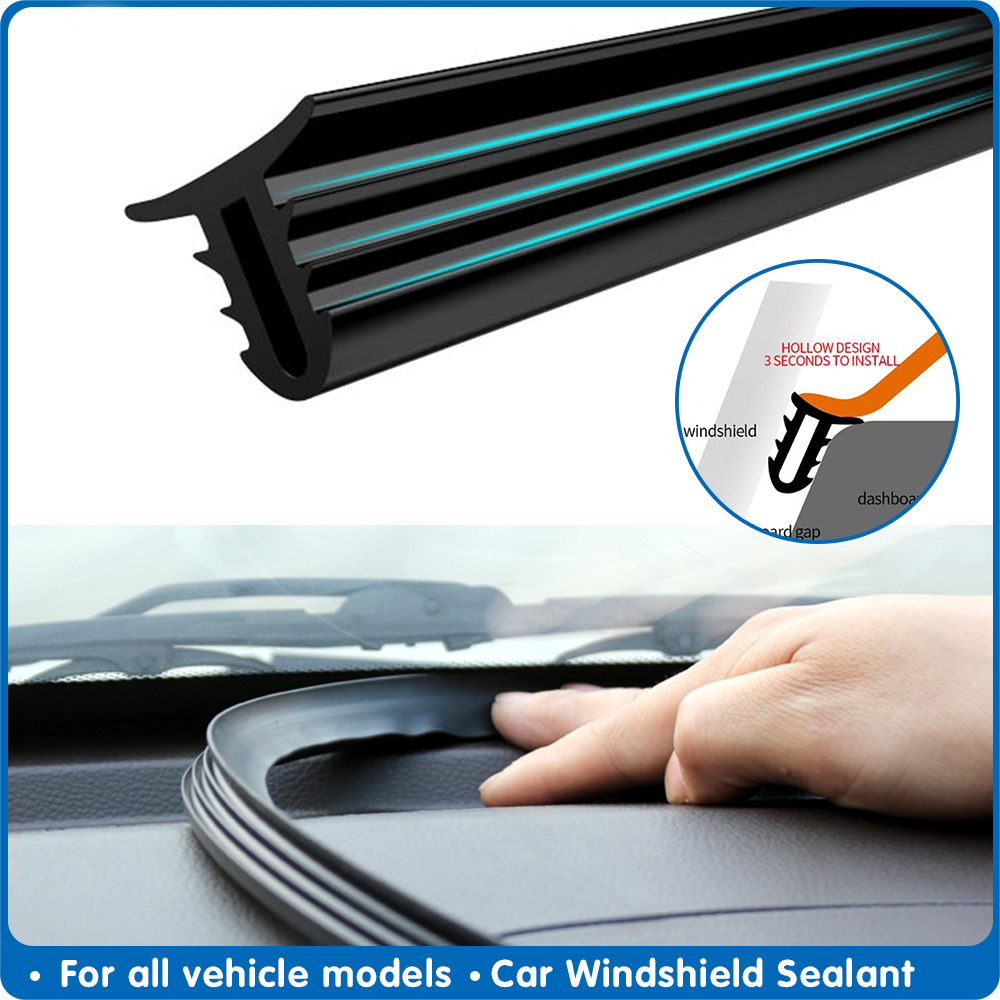 160cm Universal Car Windshield Sealant Dashboard Soundproof Rubber Seal Strip Auto Rubber Seals Car Panel Seal Car Accessories
