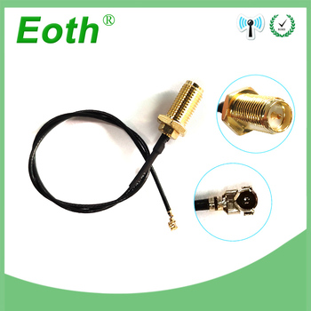 2 pieces lot 20cm Extension Cord UFL to SMA Male Connector Antenna WiFi Pigtail Cable IPX to RP-SMA  female  to IPX rp sma j to rp sma j radio frequency connection rg316 extension line 20cm line