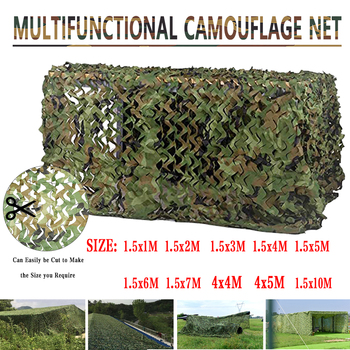 Sun Shelter 2mx10m 4m 3m 1.5mx3m 5m 7m Hunting Military Camouflage Nets Woodland Army Camo Netting Camping ShelterTent Shade Car 1 1 5m woodland camouflage camo army net hide netting camping military hunting shelter high quality
