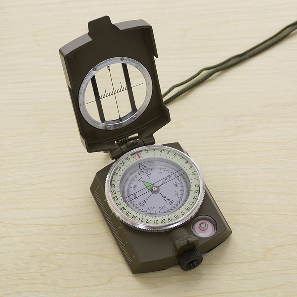 Luminous Metal Compass High Precision Compass K4580 Magnetic Waterproof Hand Held Professional Compass For Hunting Camping