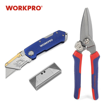 WORKPRO Hand Tool Set Multi-purpose woodworking tools Folding Knife with Blades