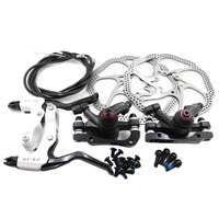 Novich NV5 BB5 Mechanical Disc Brake System with Brake Cable Brake Levers Caliper and Screws Black + White