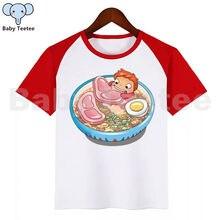 Ponyo Baby Boy Clothes Funny Cartoon Print T-shirt Kids Summer O-Neck Tops Boys & Girls Tshirt