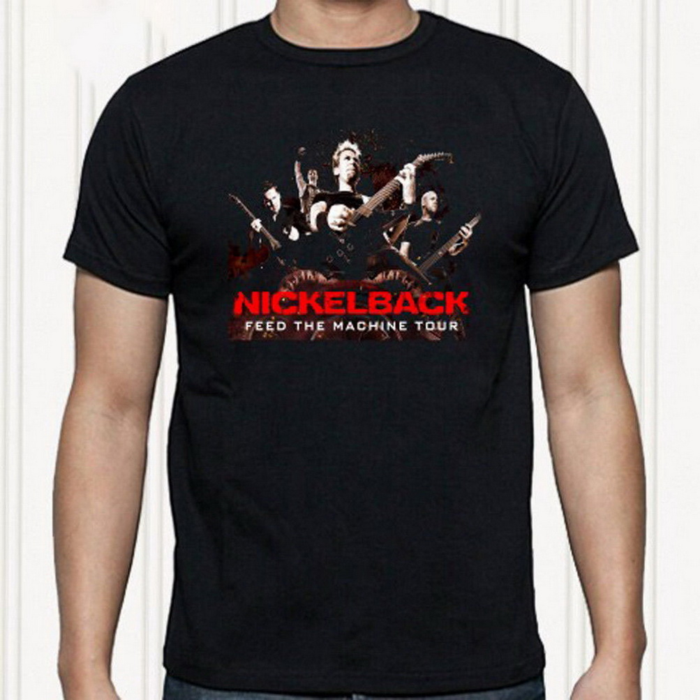 Nickelback Logo Feed The Machine Rock Official Tee T-Shirt Mens Unisex
