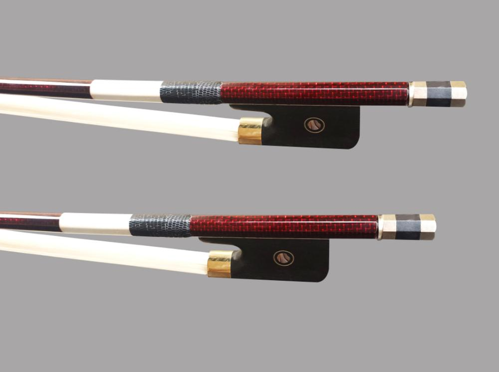 Wtsfwf 5pcs lot 4 4 3 4 French Double Bass Bow Top Braided Carbon Fiber Double Bass Bow Stunning Carbon Fiber Double Bass Bow in Violin Parts Accessories from Sports Entertainment