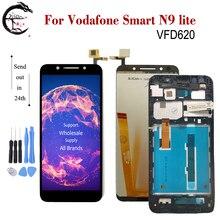 """5.34 """"LCD için çerçeve ile Vodafone akıllı N9 lite LCD N9lite ekran dokunmatik sayısallaştırıcı tertibatı VFD620 ekran VFD 620 ekran"""