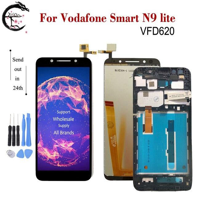 """5,34 """"ЖК дисплей с рамкой для Vodafone Smart N9 lite LCD N9lite дисплей сенсорный дигитайзер сборка VFD620 дисплей VFD 620 экран"""