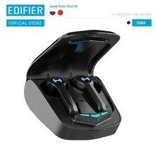 Edifier gm4 sem fio gaming fone de ouvido bluetooth 5.0 pixart controle de toque de baixa latência com assistente de voz de cancelamento de ruído