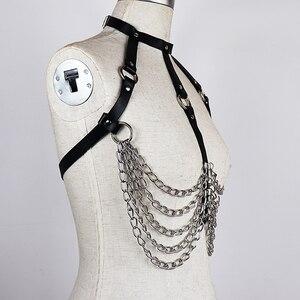 Image 5 - CEA סקסי עור רתם שרשרת חגורת חזה לנשים בירית סקסי גוף שעבוד שמלה לרתום מותניים חגורות אופנה קישוט חולצות