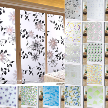 45x100cm Frosted Opaque Glass Window Film For Window Privacy Adhesive Glass Stickers Home Decor Mixed Color Bedroom 1