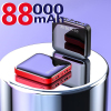 Mini power bank 88000mAh mobile phone portable charger LED power bank is suitable for Xiaomi external mobile battery