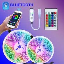 5050 Led bande lumière SMD ruban Flexible 5m 15m Led lumières 20m 10m bande Diode Dc 12v avec téléphone Bluetooth APP pour noël