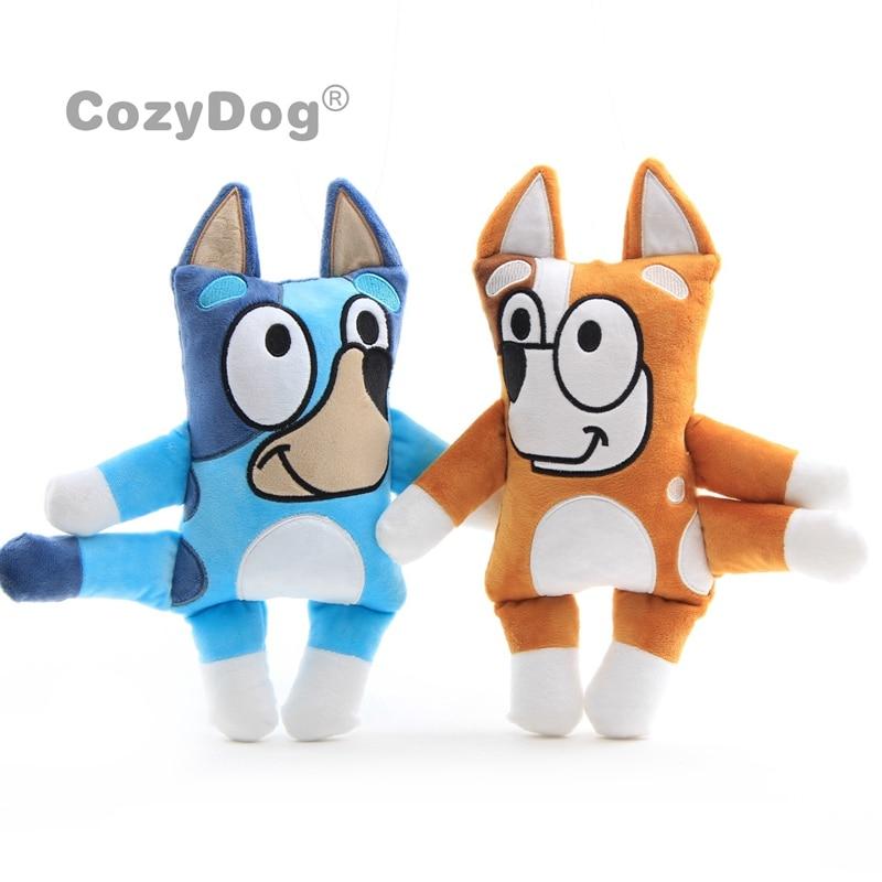 30 Cm Blue Bingo The Dog Plush Doll Toys Cartoon TV Dog  Stuffed Animals Toy Baby Kids Christmas Birthday Gift