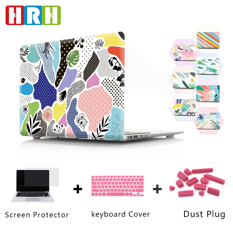 HRH Dust-proof Abstract Graffiti Design Hard Plastic Case Laptop Shell Sleeve Case For Macbook Air 13 Case A1369 A2159 A1932