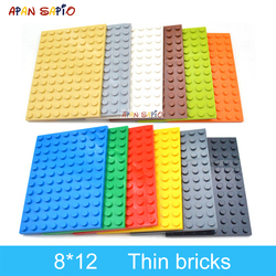 5pcs DIY Building Blocks 8x12 Dots Thin Figures Bricks 12Color Educational Creative Size Compatible With Brand Toys for Children