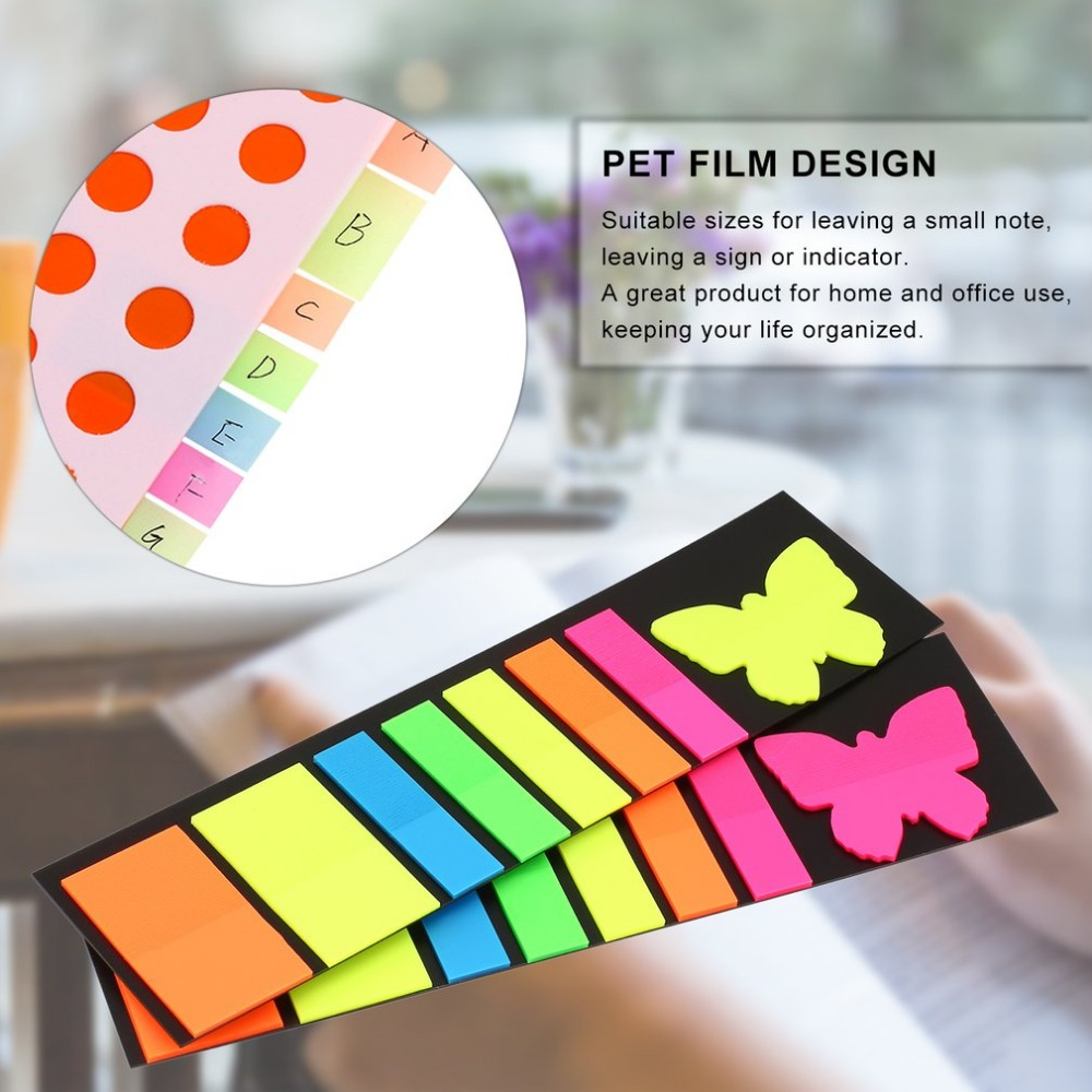 Mini Colorful Sticky Notes Page Markers Different Shapes Bookmark Tab Flags Memo Book Marker Sticky Notes Office Stationery
