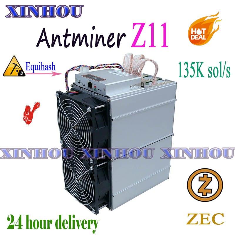 ZEC Zcash Mineur Antminer Z11 135k Equihash mineur Asique Mieux que S9 Z9 S17 T17 Z11j S17e Innosilicon A9 WhatsMiner M3 M21S M20S