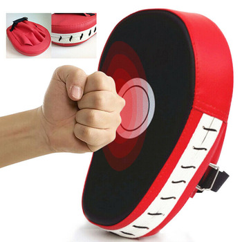 Curved Boxing Muay Thai Hand Target Sanda Training Thickened Earthquake-resistant Curved Baffle PU Five-finger Hand Target 1
