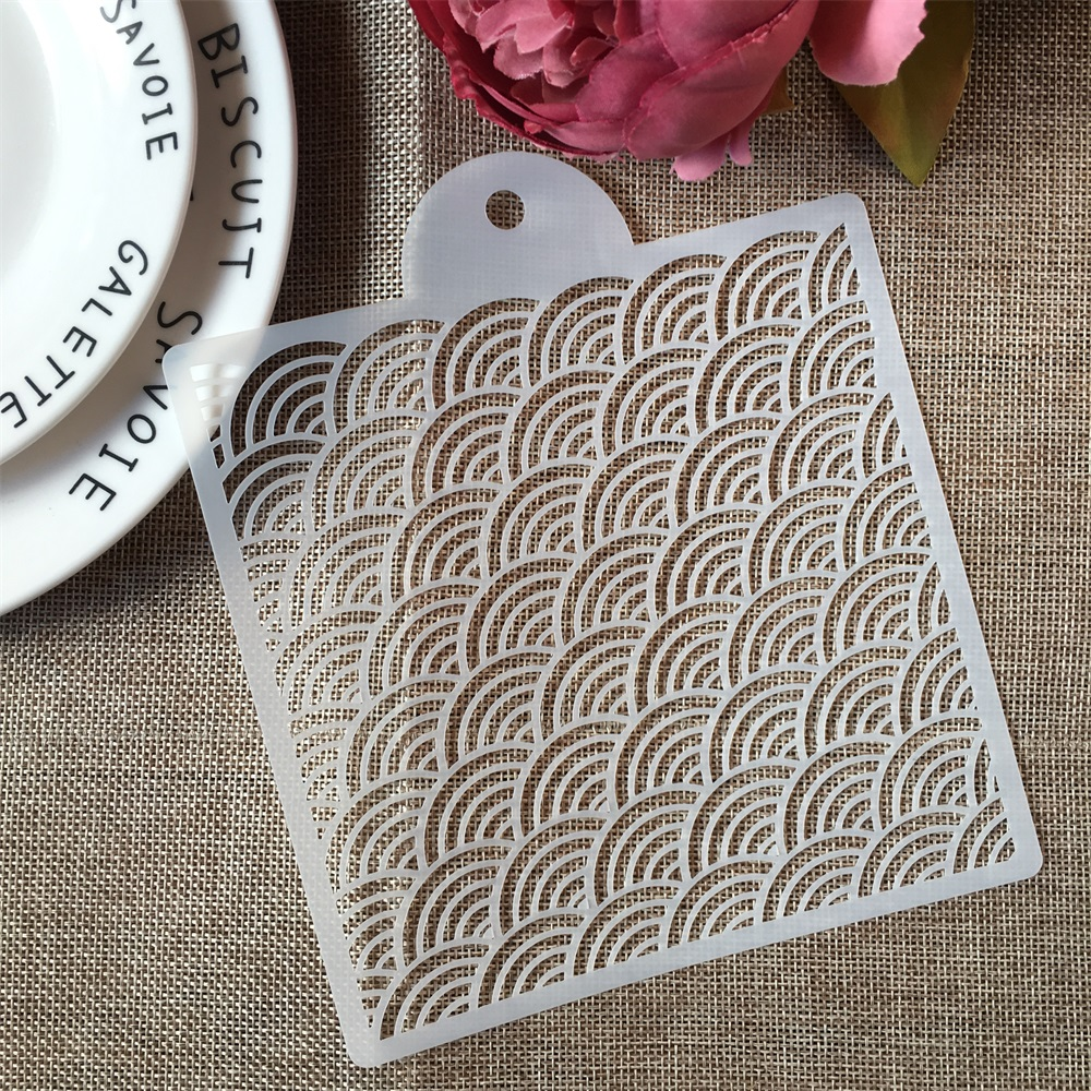 1PCs 15*17.5cm Wavy Matrix DIY Craft Layering Stencils Painting Scrapbooking Stamping Embossing Album Paper Card Template