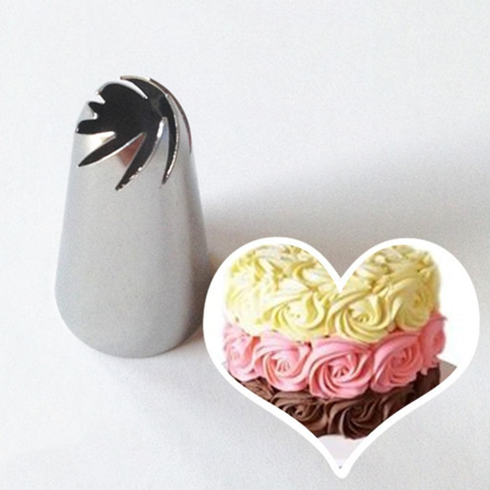 4YANG 1Pc Spiral Icing Piping Ake Cream Flower Nozzle Cake Decorating Tip Sets Sugarcraft Pastry Tool