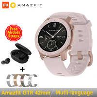 [Global Version]AMAZFIT GTR Smartwatch 42mm 5ATM Waterproof GPS GLONASS Bluetooth Heart Rate Monitor Smart Watch