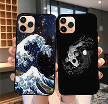 New Van Gogh Starry Night Huge waves off kanagawa Black soft TPU phone cover for iPhone 11 Pro SE 2020 6 6S 7 8Plus MAX XR XS X silicone phone case for iphone 8 7 6 6s plus x xr xs max soft tpu van gogh starry night cover for apple iphone 11 pro max coque