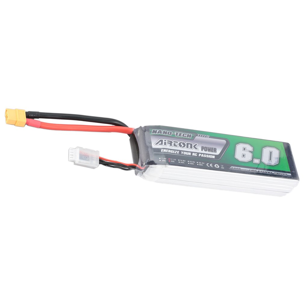 Airtonk Power 11.1V <font><b>6000mAh</b></font> 35C <font><b>3s</b></font> 1P <font><b>Lipo</b></font> <font><b>Battery</b></font> XT60 Plug Rechargeable for RC Racing Drone Quadcopter Helicopter Car Boat image