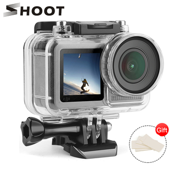 SHOOT Underwater Waterproof Case for DJI Osmo Action Camera Diving Protective Housing Shell for DJI Osmo Sports Camera Accessory shoot 6 dual handheld dome port waterproof diving housing case cover with trigger for dji osmo action camera lens accessories