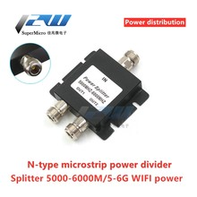 N cabeça um minuto dois microstrip divisor de potência 5000-6000mhz wifi power segundo combinador de distribuição de energia 5-6g