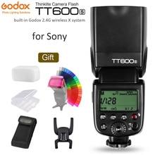 GODOX TT600S GN60 Flash Light Master Slave Speedlite 2.4G Wireless X System add Transmitter for Sony A7S A7R II A7MII A6000